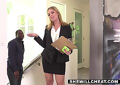 Britney Amber scores a touchdown with a BBC