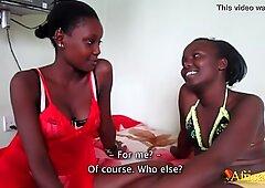 Gorgeous Lesbian Ebony Teens Tribbing