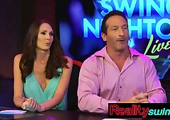 Amateur swingers watching all reality show moments