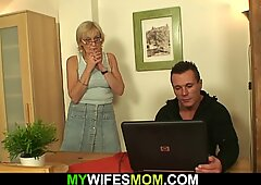 Guy Finds out his Mother-in-law is Horny old Bitch!