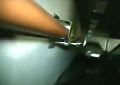 Coed fucked and jizzed on in car garage