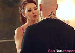 Nuru milf gets cumshot