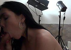 Povbitch - Brunette tattoo bitch suck cock like noone before