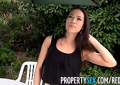 PropertySex - Hot Asian realtor homemade sex