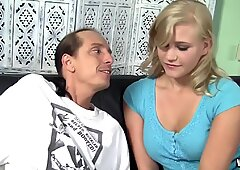 Blond Hottie with Perfect Tits Jacks Off A Lubed Up Cock by XMILF.US - Roxy Lovette