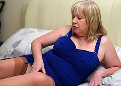 Granny with big tits and hungry old cunt