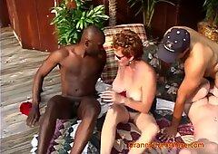 Interracial Orgy at Granny's House