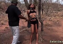 Cock sharing african babe