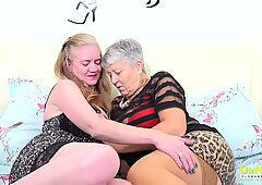OldNannY Mature Lesbians Using Toys for Pleasure