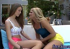 Fingering teen stepsister