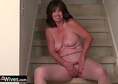 USAWives mature woman Jade solo masturbation