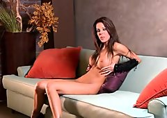 Tabitha Stevens gobbles a tasty todger before being banged in her hot bush