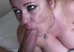 Sexy fat woman with huge jugs gets her kitty pounded in sideways pose