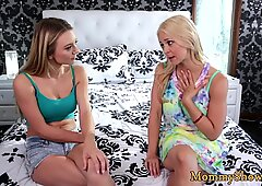 Mature beauty pleasured by her stepdaughter