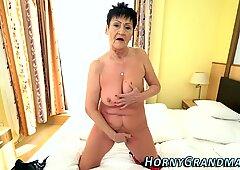 Grandma slut sucks dick