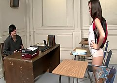 Kristina Rose Knows How to Get Attention in the Classroom