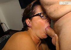 AmateurEuro - Granny Gets Wet Over A Big Cock