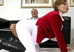 Amazing and hot blond woman Holly Kiss gets her quim fucked on the floor