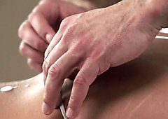 Massaged babe has anal
