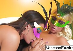 Vanessa gets to have some naughty fun with hot busty Capri Cavanni