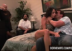 super-steamy milf Ariella Ferrara lets a guy fuck her in front of her spouse
