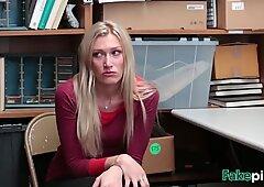 Tattooed blonde girl banged by stranger