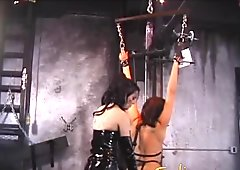 Juicy slave doesn't make a sound as the mistress plays
