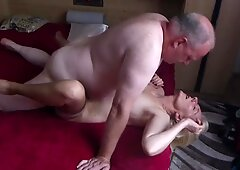 Double internal cumshot for my wife