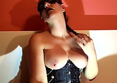 Your Sensual and Soothing Mistress Caressing Her Breasts