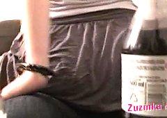Beautiful amateur girl Zuzinka is riding dick actively