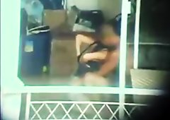 hidden cam couple sex apartment window