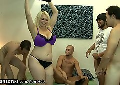 curvaceous Ho's ambisexual gang-fuck