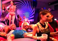 Bisexual cuties fucking at pajama party