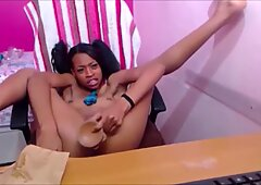Black teen gagging and pussyfucking - 770CAMS.COM