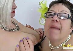 OldNannY Two Busty Meaty Lesbian Milfs Playing