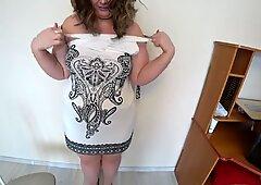 mature nurse with huge tits, lesbian POV