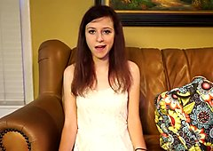 Teen girl Katie in casting couch fuck session