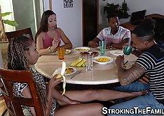 Ebony stepfamily fuck