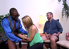 Babe takes big black cock