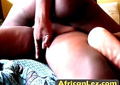 African natural titted Lisa SIlver in lesbian shower action with her ebony friend