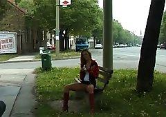 crazy outdoor peeing