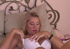 Busty MILF Josefine Masturbating
