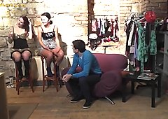 Two teens at the party want rough sex