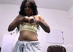 Tamil Babe Gets Naked Fingering Her Pussy Pressing Her Juicy Tits