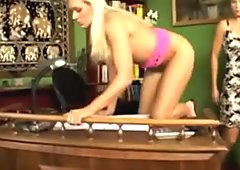 Sexy Blonde Gets A Red Spanked Ass!!!!!!!