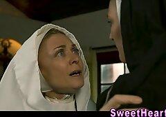 Busty les fingers nun