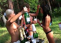 College pornstars Dulsineya and Jewel naked