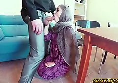 Hot arab slut fucked hard  for the money