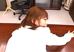 Yuu Asakura Asian secretary has sex in the office