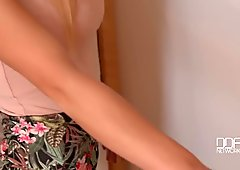 Amazing blonde honey gets a stiff rock-hard surprise